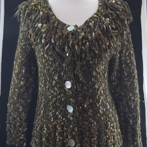 Ruby Rd Boucle Open Cardigan Sweater
